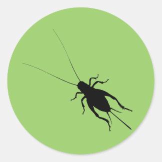 Black Cricket Round Sticker