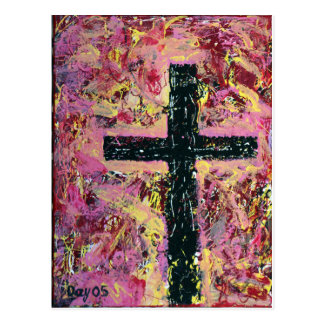 Black Cross Postcard