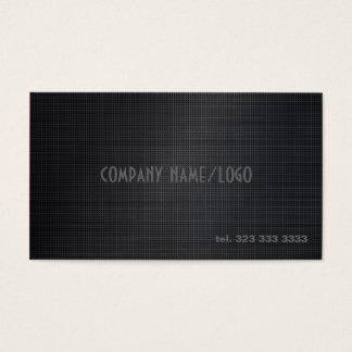 Black Cross Stitch Pattern Business Card Template