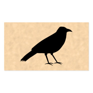 Black Crow Bird on a Parchment Pattern. Double-Sided Standard Business Cards (Pack Of 100)