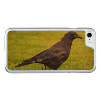 Black crow carved iPhone 8/7 case