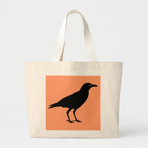 Black Crow Halloween Trick or Treat Candy Tote Bags