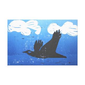 Black Crow Print Reduction