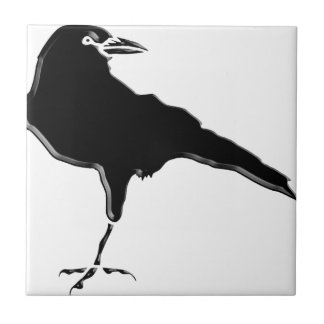 Black Crow Small Square Tile