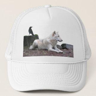 Black Crow, White Wolf Trucker Hat
