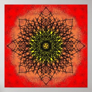 Black crown lines 12x12 print