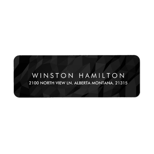 Black Crumpled Paper Personalised Return Address Return Address Label