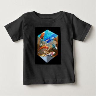 Black Cubed Koi Baby T-Shirt