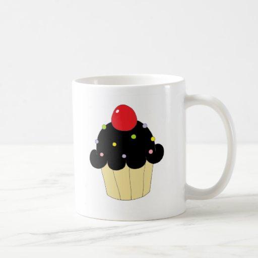 Black Cupcake Basic White Mug   Zazzle
