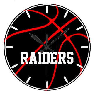 Black Custom Color Basketball Wall Clock