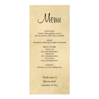 Black Custom Text on Beige Abstract Wedding Rack Cards