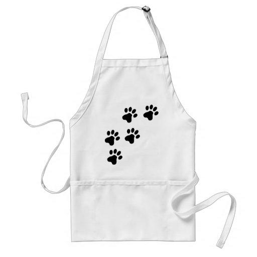 black cute dog paws doggy apron