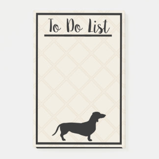 Black Dachshund To Do List Post-it Notes