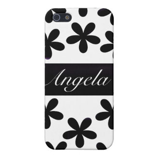 Black Daisies for 4/4S Cover For iPhone 5