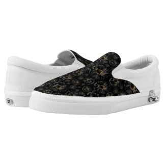 Black Daisies Printed Shoes