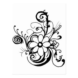 black daisy.png postcard