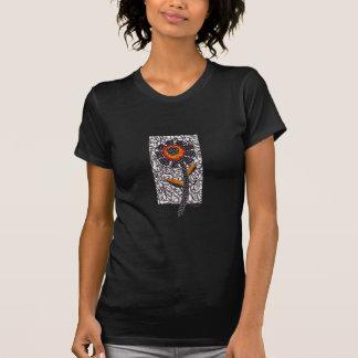 Black daisy T-Shirt