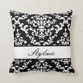 Black Damask #3 @ Stylnic customizable Cushion