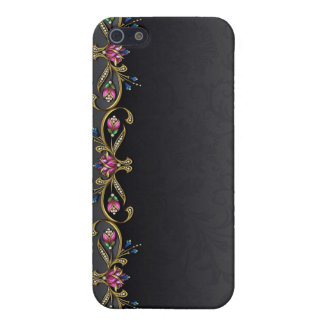 Black Damask and Jewels iPhone 5C Case