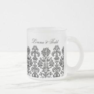 Black Damask Background for the DIY bride Mugs