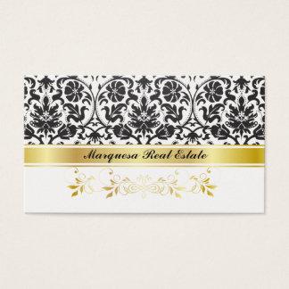 Black Damask Business Card
