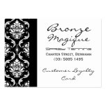 Black Damask Business Customer Loyalty Cards Business Cards