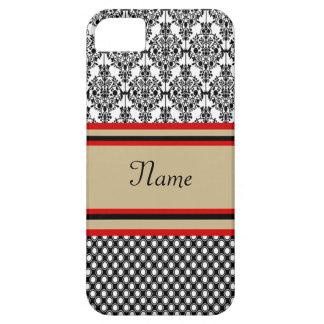 Black Damask Monogram iPhone 5 Covers