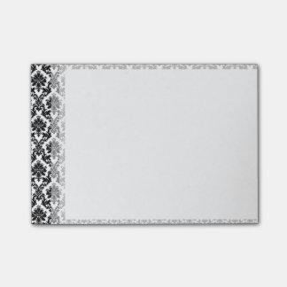 Black Damask Pattern Post-it® Notes