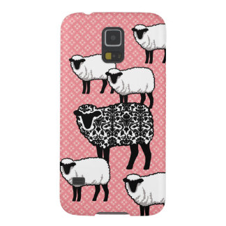 Black Damask Sheep Galaxy S5 Cover