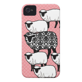 Black Damask Sheep iPhone 4 cover