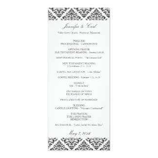 Black Damask Wedding Programs