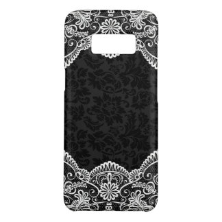 Black Damask With White Lace Case-Mate Samsung Galaxy S8 Case