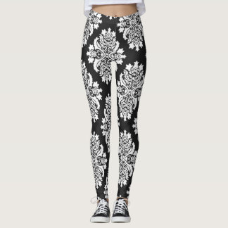 Black Damask Women's Leggings