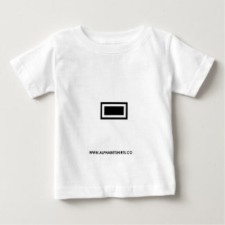 Black Dash/ Hyphen Baby T-Shirt