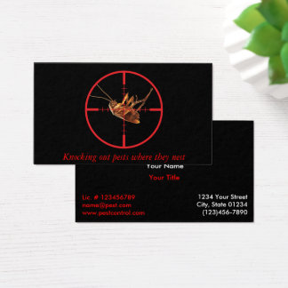 Black Dead Roach Pest Service 2 Sided Business Card
