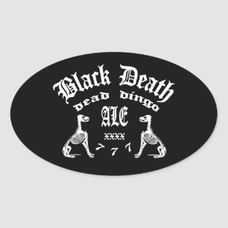 Black Death 777 -  Dead Dingo Ale Oval Sticker