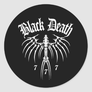 Black Death 777 - End of Season Classic Round Sticker