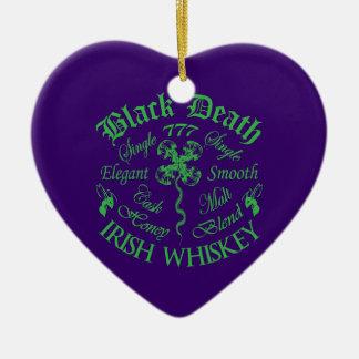 Black Death 777 - Honey Irish Whiskey Ceramic Heart Decoration