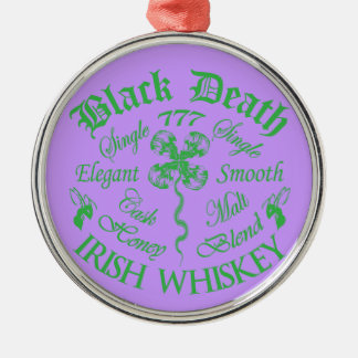 Black Death 777 - Honey Irish Whiskey Silver-Colored Round Decoration