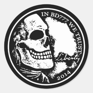 Black Death 777 - Liberty Round Sticker