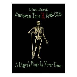 Black Death European Tour Olde Font Postcard