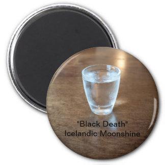 """""""Black Death"""" Shot - Icelandic Moonshine Refrigerator Magnets"""