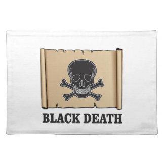 black death sign placemat