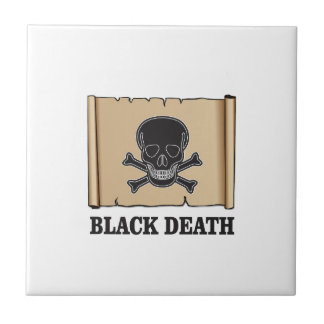 black death sign small square tile