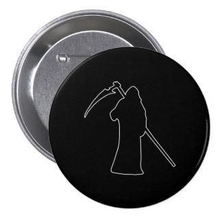 Black Death spooky figure 7.5 Cm Round Badge