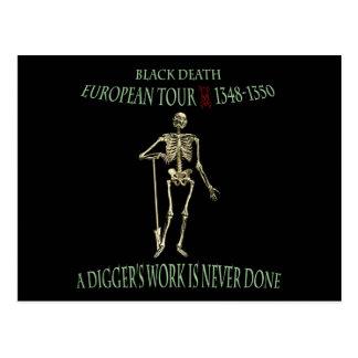 Black Death World Tour Original Design Postcard
