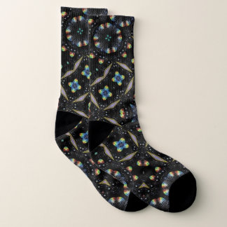 Black Decorative Abstract Design Socks