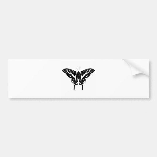 Black Decorative Butterfly Bumper Sticker