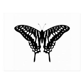 Black Decorative Butterfly Postcard