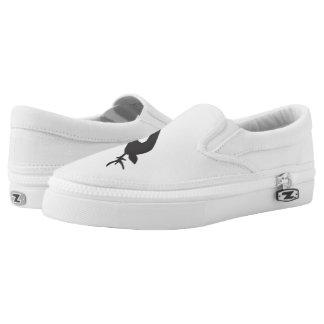 black deer white Zip Slip On Shoes for women Printed Shoes